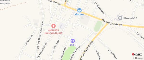 Улица К.Либкнехта на карте поселка Уразово с номерами домов
