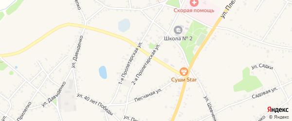 2-я Пролетарская улица на карте поселка Уразово с номерами домов