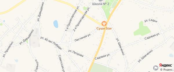 Песчаная улица на карте поселка Уразово с номерами домов