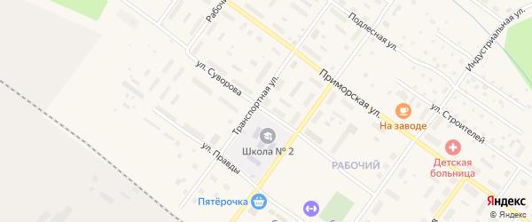 Улица Суворова на карте Онеги с номерами домов