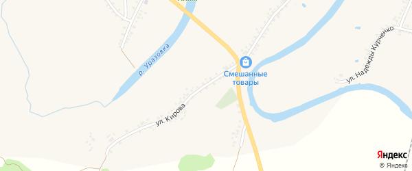Улица Кирова на карте поселка Уразово с номерами домов