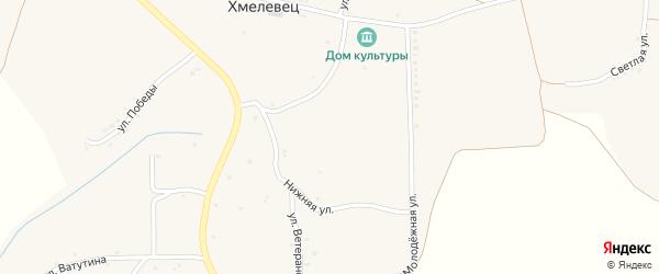 Переулок Зеленая на карте села Хмелевца с номерами домов