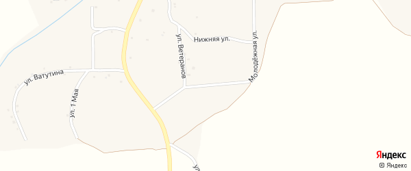 Молодежная улица на карте села Хмелевца с номерами домов