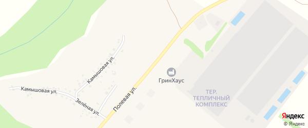 Полевая улица на карте села Терехово с номерами домов