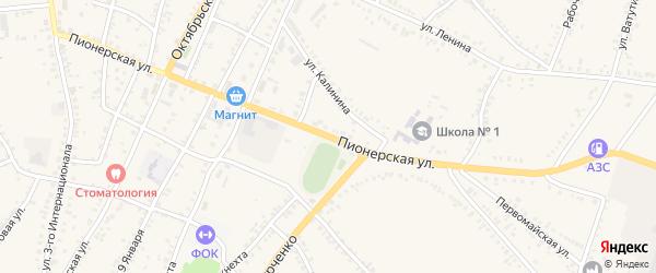 Пионерская улица на карте поселка Уразово с номерами домов