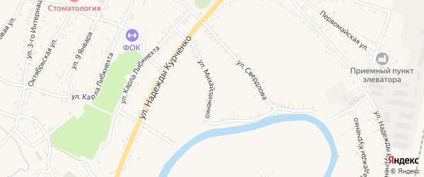 Улица Михайличенко на карте поселка Уразово с номерами домов
