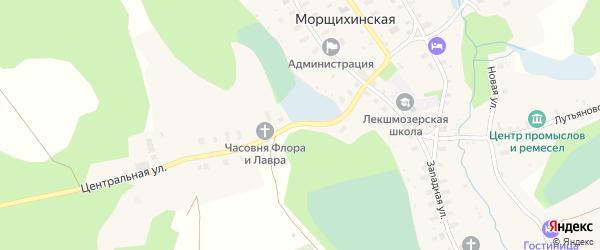 Центральная улица на карте деревни Морщихинская (Печниковское мо) с номерами домов