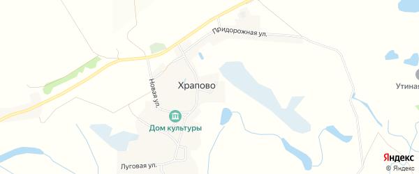 Карта села Храпово в Белгородской области с улицами и номерами домов