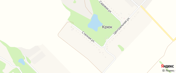 Степная улица на карте села Крюка с номерами домов