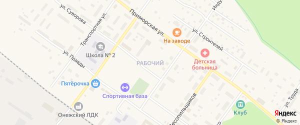 Новосельская улица на карте Савинского поселка с номерами домов