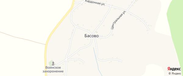 Кордонная улица на карте села Басово с номерами домов