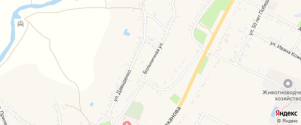 Больничная улица на карте поселка Уразово с номерами домов