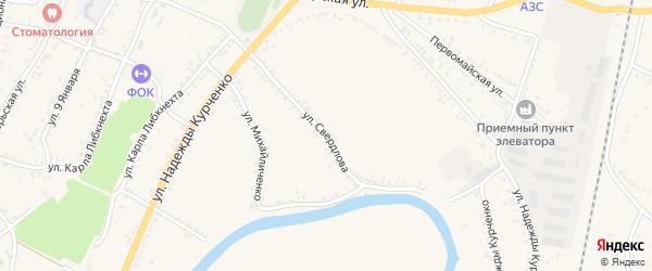 Улица Свердлова на карте поселка Уразово с номерами домов