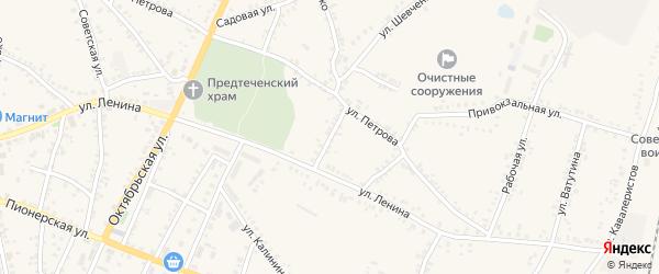 Переулок Котовского на карте поселка Уразово с номерами домов