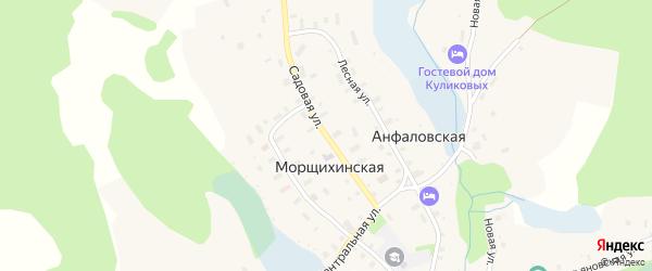 Садовая улица на карте деревни Морщихинская (Печниковское мо) с номерами домов