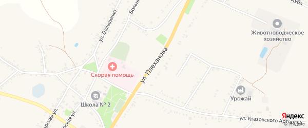 Улица Плеханова на карте поселка Уразово с номерами домов