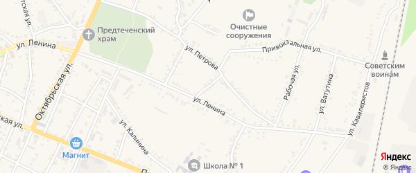 Переулок Петрова на карте поселка Уразово с номерами домов