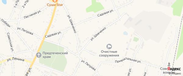 Улица Шевченко на карте поселка Уразово с номерами домов