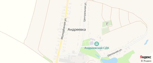 Набережная улица на карте села Андреевки с номерами домов