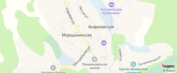 Улица 2-я Линия на карте деревни Морщихинская (Павловское мо) с номерами домов