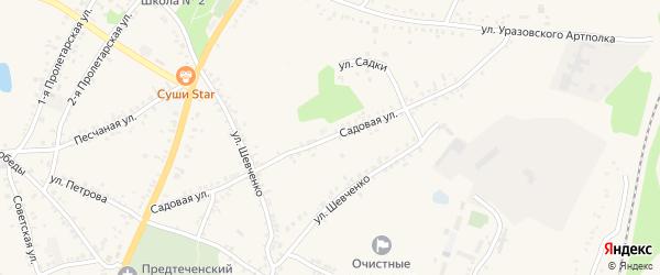 Садовая улица на карте поселка Уразово с номерами домов