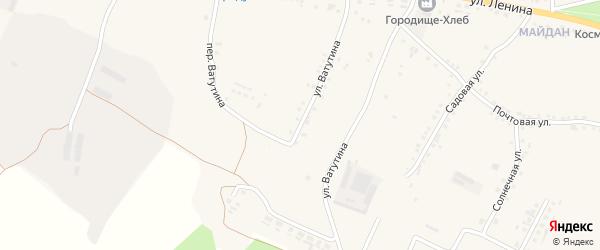 Улица Ватутина на карте села Городища с номерами домов