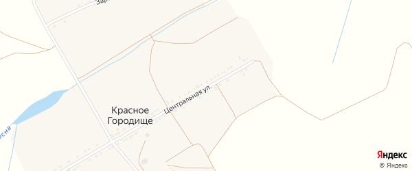 Центральная улица на карте села Красного Городища с номерами домов