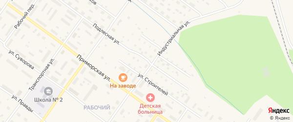 Подлесная улица на карте Онеги с номерами домов