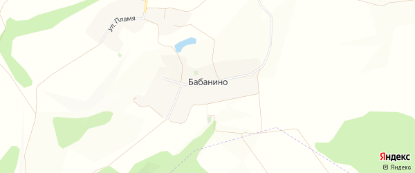 Карта хутора Бабанино в Белгородской области с улицами и номерами домов