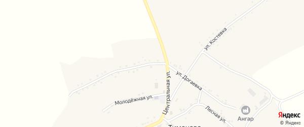 Улица Догаевка на карте села Тимоново с номерами домов