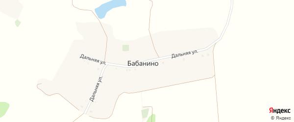Дальняя улица на карте хутора Бабанино с номерами домов