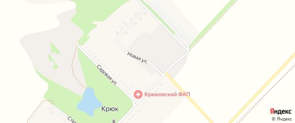 Центральная улица на карте села Крюка с номерами домов
