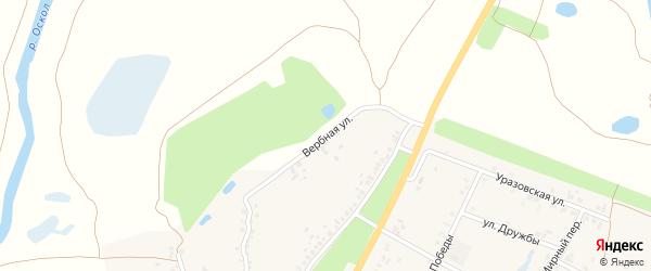 Вербная улица на карте поселка Уразово с номерами домов