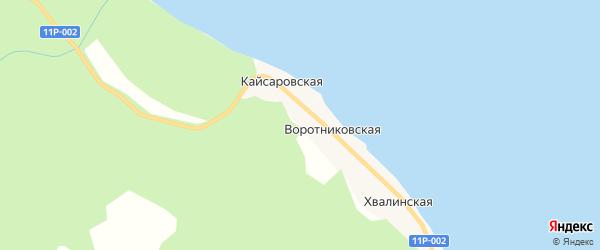 Карта деревни Орлово в Архангельской области с улицами и номерами домов