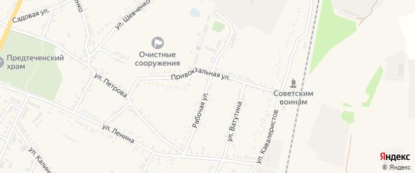 Рабочая улица на карте поселка Уразово с номерами домов
