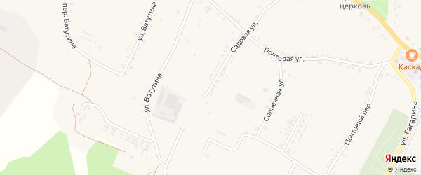 Садовая улица на карте села Городища с номерами домов