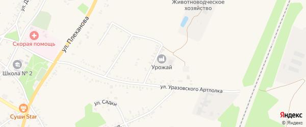Улица Уразовского артполка на карте поселка Уразово с номерами домов