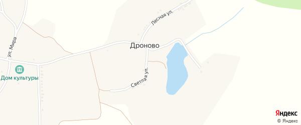 Полевая улица на карте села Дроново с номерами домов