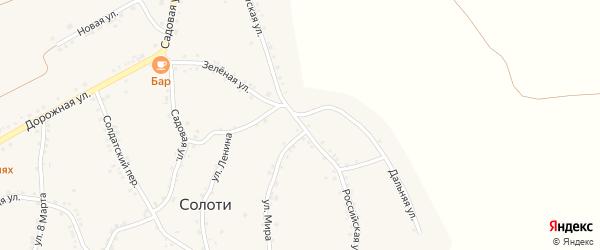 Российская улица на карте села Солоти с номерами домов