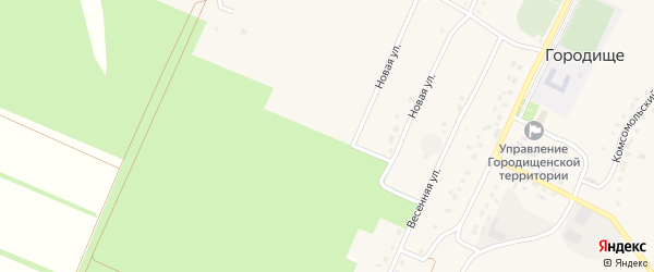 Переулок 4-й Мира на карте села Городища с номерами домов