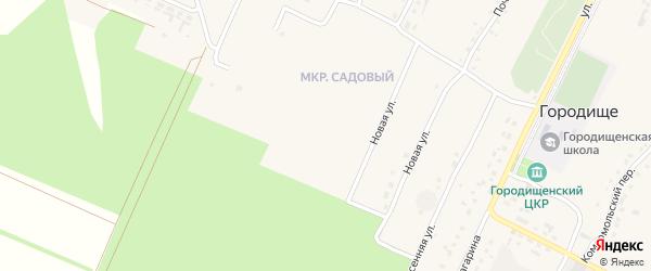 Улица Мира на карте села Городища с номерами домов