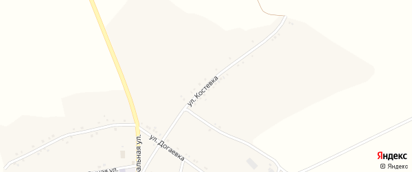 Улица Костевка на карте села Тимоново с номерами домов