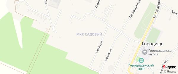 Переулок 1-й Мира на карте села Городища с номерами домов