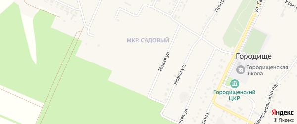Переулок 2-й Мира на карте села Городища с номерами домов