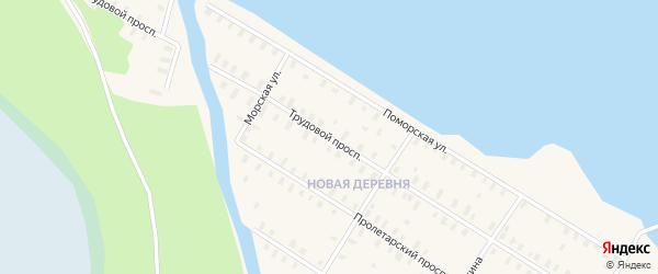 Трудовой проспект на карте Онеги с номерами домов