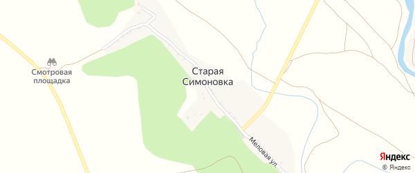 Меловая улица на карте села Старой Симоновки с номерами домов