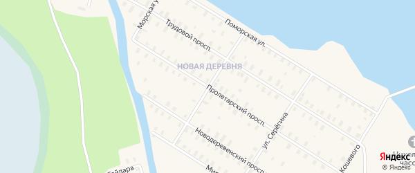Улица Островского на карте Онеги с номерами домов