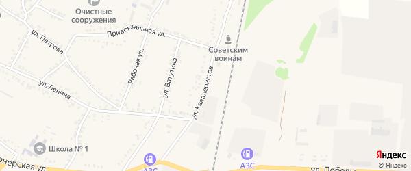 Улица Кавалеристов на карте поселка Уразово с номерами домов
