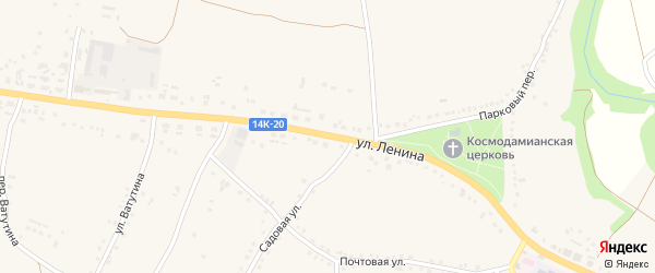 Улица Ленина на карте села Городища с номерами домов