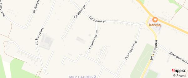 Солнечная улица на карте села Городища с номерами домов
